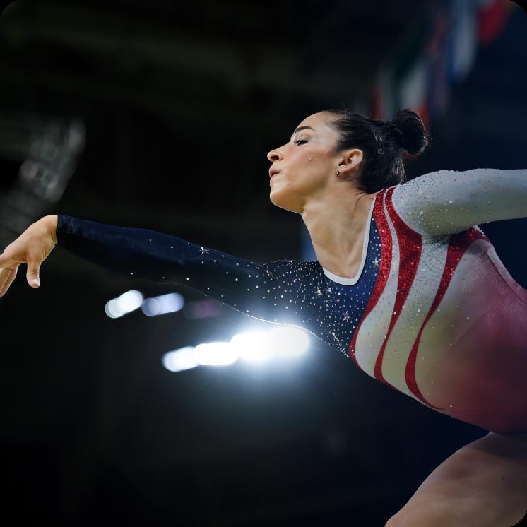 Aly Raisman, a US gymnastics Olympian.