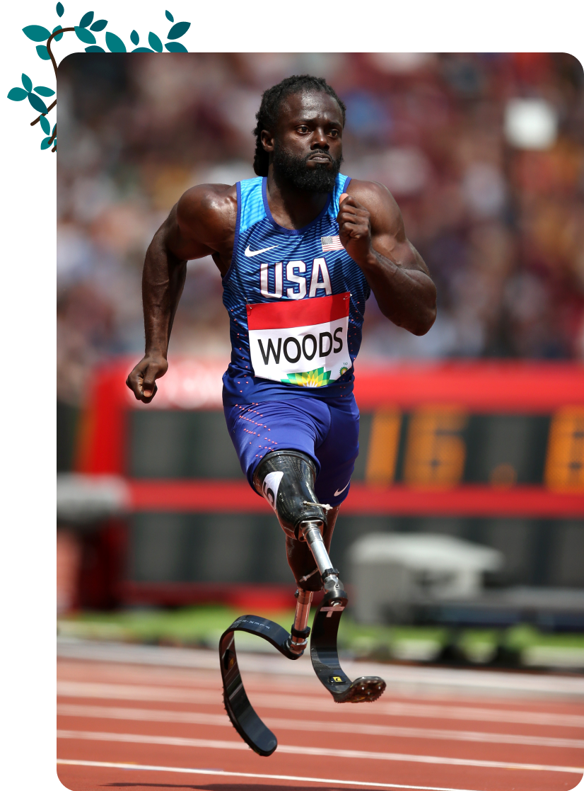 Regas Woods, a US Paralympian in Track and Field